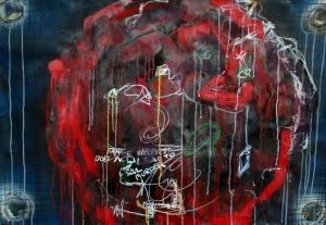 Anthony Smith, Sometimes Maybe, No 6, 24 x 36 inches, mixed, 2002