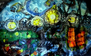 Anthony Smith, Corrupting the Kingdom of Power No 1, 5 x 7 feet, mixed media, 2000