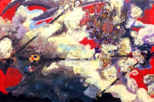 Anthony Smith, Pilot, Or How Do You Stop A Flying Dreadnaught,  32 x 48 inches, mixed, 2015