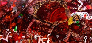 Anthony Smith, Warrior Cycle 2, 24 x 48 inches, mixed media, 2003