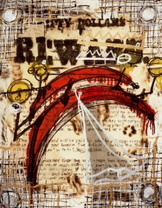 Anthony Smith, Wanted No 3, 24 x 36 inches, mixed media, 2003