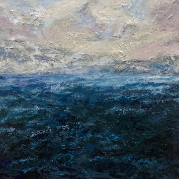 Anthony Smith Jr. Sea of Japan No. 1, 24 x 24 inches, acrylic, 2020